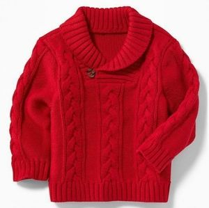 OLD NAVY Boys Sweater Cable Knit Red Size 0-3 M